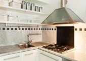 Nice apartment, interior, domestic kitchen