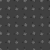 whirligig web icon. flat design. Seamless gray pattern.
