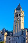 picture of old post office  - The Clock Tower of the Old Post Office building in Washington DC - JPG