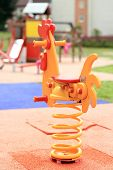 stock photo of playground school  - school playground for kids in urban area - JPG