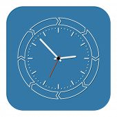 clock flat design