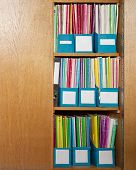 Colour File Folders In Office Cupboard