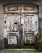 Old Doorward, Weathered And Rotting In Porto