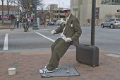 Living Statue Artist In Downtown Asheville