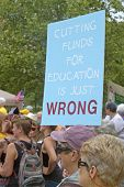 Moral Monday Education Cuts Protest Sign