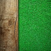 wooden board with grass