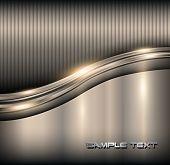 Elegant 3d metallic background, vector.