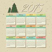 2015 calendar, vector