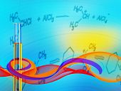 Abstract Science background with test tube