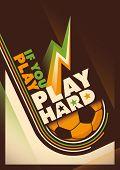 Modern design of football poster. Vector illustration.