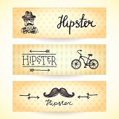 Hipster banners set