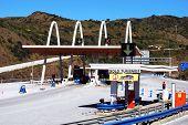 Spanish toll plaza.