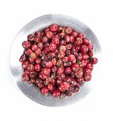 Isolated Pink Peppercorns (in A Bowl)