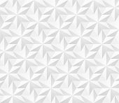 Vector Seamless Pattern - Geometric Hexagonal Stars Modern Volume Texture