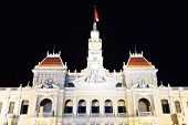 People Committee Building De Saigon At Night