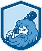Hercules Wielding Club Shield Retro