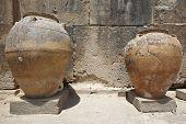 Ceramic Pots In Phaestos City Ruins In Crete. Greece