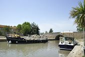Boats At The Canal Du Midi