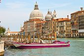View Of The Grand Canal And The Church Santa Maria Della Salute In Venice, Italy