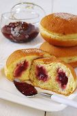 Sweet Breakfast: Donuts With Raspberry Jam