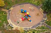 Playground In Autumn, Top View