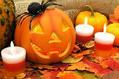Halloween Jack o Lantern scene
