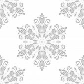 Damask Seamless Vector Pattern. Orient Grey Background