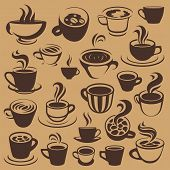 coffee elements or logos