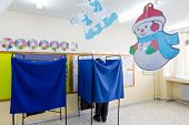 Greek Voters Head To The Polls For The General Election 2015