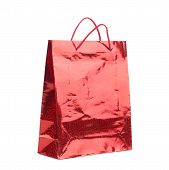Red gift paper bag.