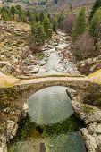 Ponte Altu Over The Golo River In Central Corsica