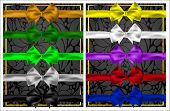 Set Of Colorful Bows And Ribbons For Design. The Ten Colors.