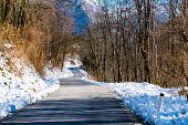 Road On  Winter And Snow Landscape
