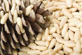 clean pine nuts