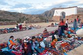 Inca Market In Chichero, Peru