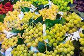 Green grapes at the Boqueria