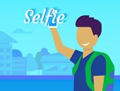 Selfie of funny guy
