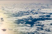 Clouds over Atlantic ocean