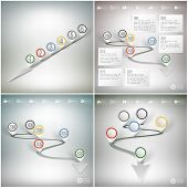Timelines set with pointer marks. Infographics for business design and website templates