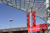 Milan Trade Fair roofing during Salone del Mobile