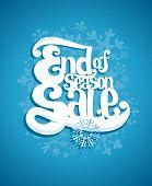 End of winter season sale typographic illustration.