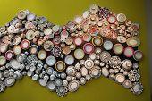Close Up Of Beautiful Ceramics By Richard Ginori