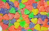 Colorful Heart Shapes Candy