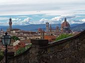 view on florence city. italy. poster