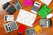 Question Mark And Calculators