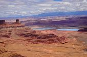 pic of potash  - View from Dead horse state park into canyonlands and salt settling ponds - JPG