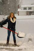 Shoveling Snow Portrait Smiling