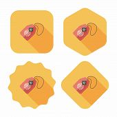 Chinese New Year Flat Icon With Long Shadow,eps10, Lucky Chinese Pendant Means