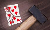 Hammer With A Broken Card, Eight Of Hearts