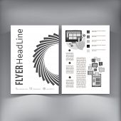 Abstract  Brochure Flyer design vector template.